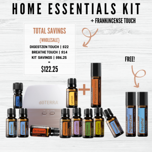 Home Essentials Kit plus Frankincense Touch